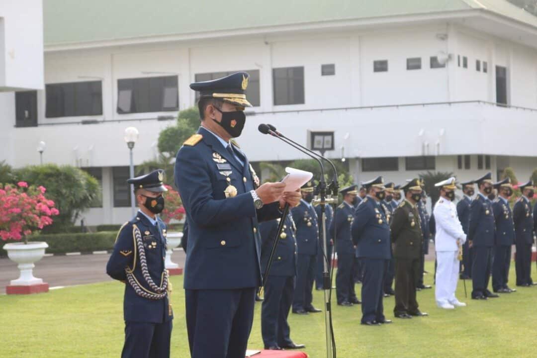 Kohanudnas Gelar Upacara Peringatan HUT ke-75 TNI Angkatan Udara
