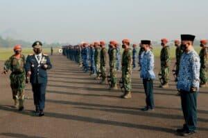 Markas Komando Korpaskhas Gelar Upacara Peringatan HUT Ke-75 TNI Angkatan Udara