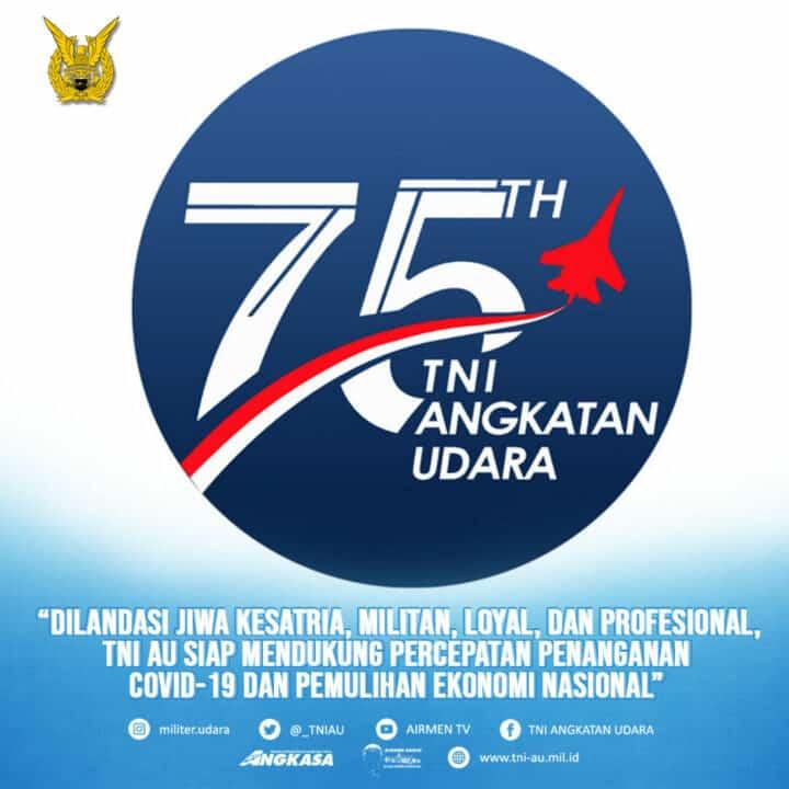 Pimpin Peringatan HUT ke-75 TNI AU, Kasau : DI Usia 75 Tahun TNI AU pada Level dan Kondisi yang Semakin Profesional