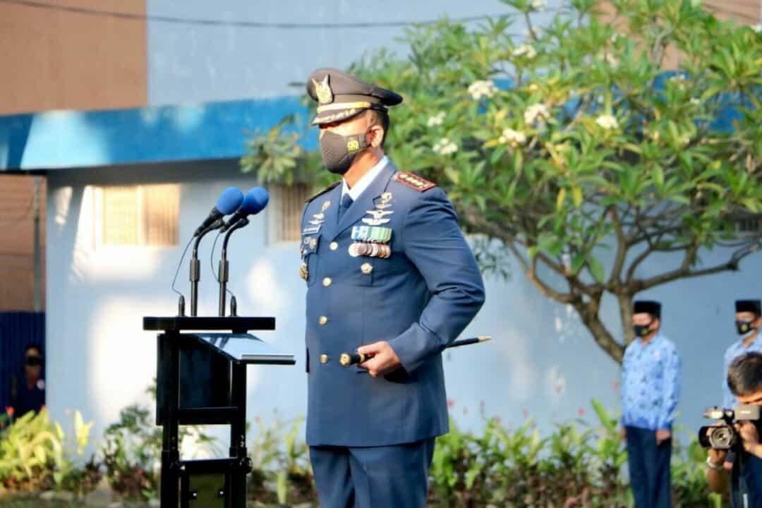 Upacara Peringatan ke-75 Hari TNI Angkatan Udara di Lanud I Gusti Ngurah Rai
