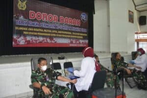 Peduli Sesama, TNI AU Wilayah Kota Bandung Gelar Donor Darah Dalam Rangka HUT Ke-75 TNI Angkatan Udara.