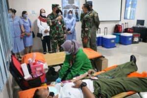 Donor Darah HUT ke-75 TNI AU, Lanud Halim Sumbangkan 161 Kantong Darah ke PMI