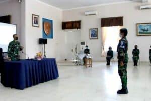 Danlanud Adisutjipto Laksanakan Jam Komandan kepada Prasis Semaba Wara Angkatan 46.