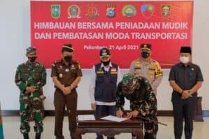 Deklarasi Bersama Forkopimda Riau Tentang Peniadaan Mudik Lebaran