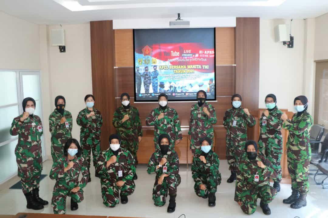 Secara Virtual, Wara Seskoau Menyaksikan Apel Bersama Wanita TNI