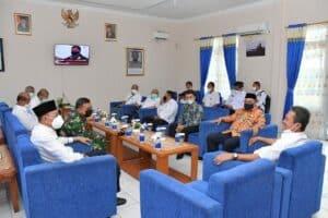 Danlanud RSA Sambut Kunjungan Menteri KKP di Natuna