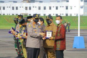 Upacara Penutupan Lasitarda Nusantara XLI Tahun 2021 di Lanud Soewondo