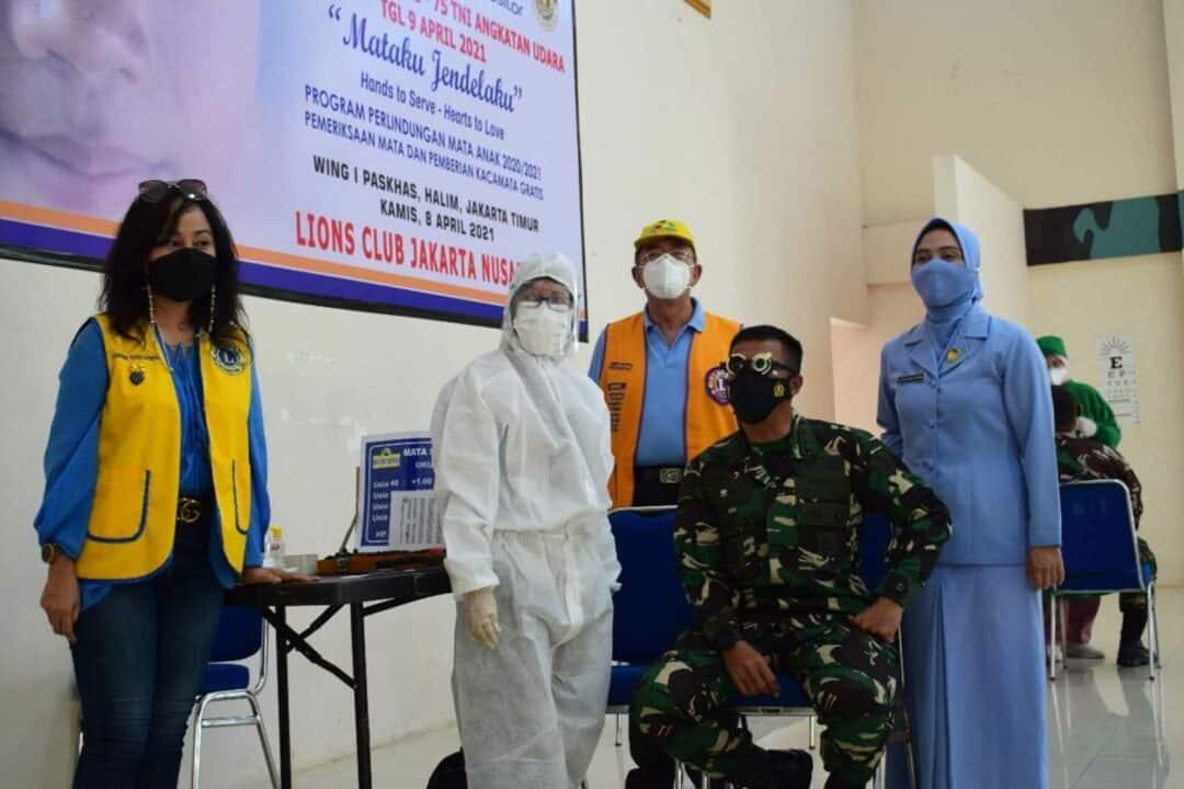 Rikes Mata Dan Pemberian Kaca Mata Gratis Dalam Rangka HUT TNI AU Ke 75