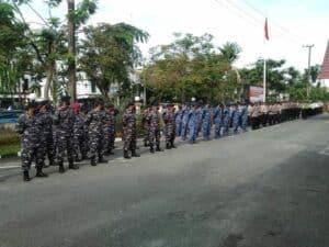 Personel Lanud Dhomber Ikuti Gelar Pasukan Operasi Ketupat Mahakam 2021