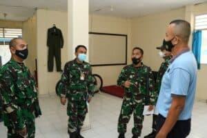 Aspotdirga Koopsau II Meninjau Kesiapan Sarpras Dalam Rangka Pembentukan Komponen Cadangan di Lanud Sultan Hasanuddin