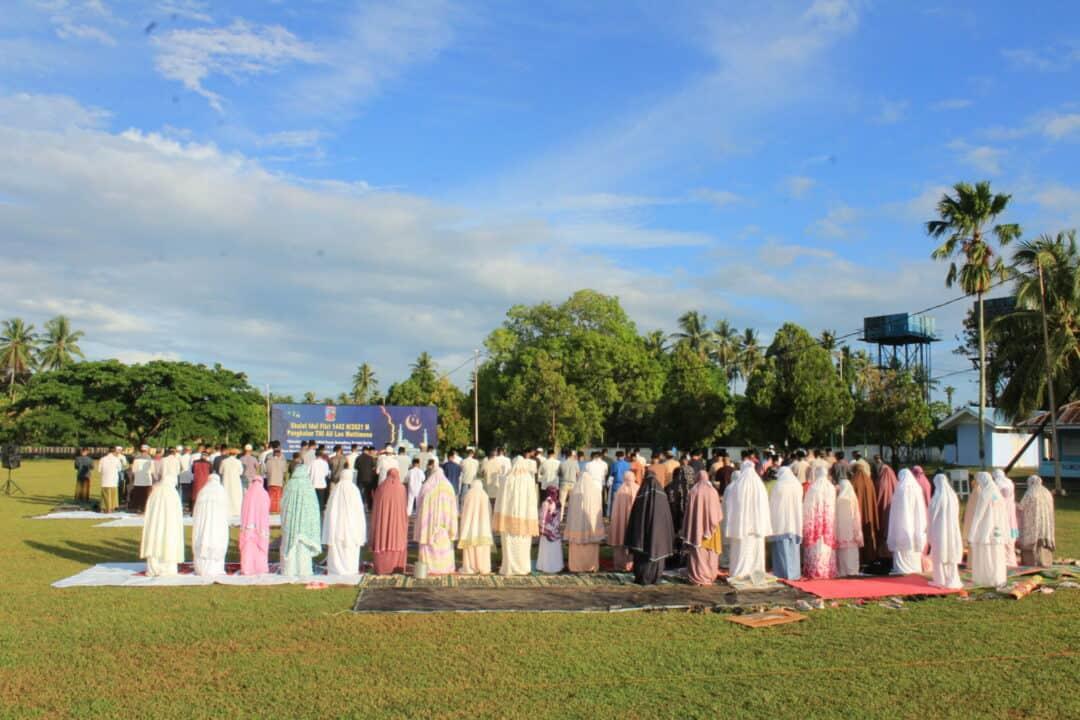 Pelaksanaan Sholat Idul Fitri1 Syawal 1442 Hijriyah di Lanud Leo Wattimena