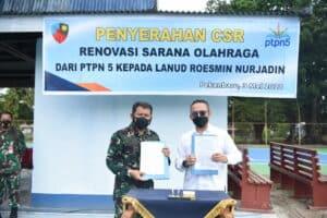 Danlanud Rsn Apresiasi, PTPN V Renovasi Sarana Olahraga