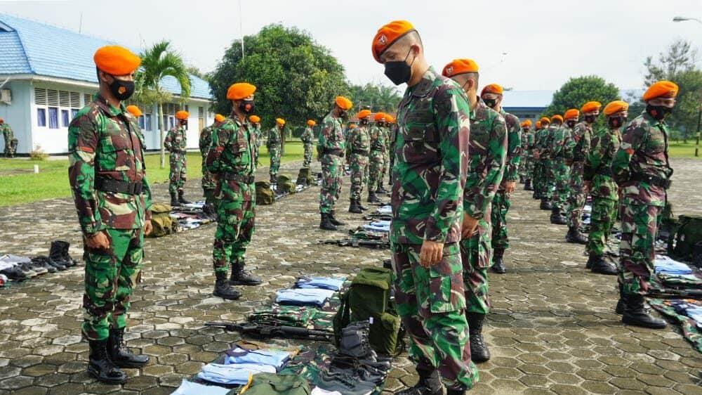 Danyonko 462 Pimpin Apel Pelepasan Penugasan Satpamwal Denma Mabes TNI