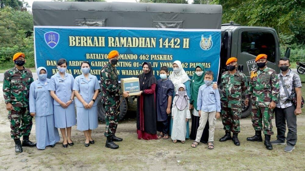 Yonko 462 Paskhas Berbagi Berkah Ramadhan 1442 H Ke Panti Asuhan dan Warakawuri
