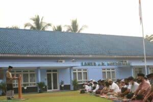 """Danlanud J.B. Soedirman : """"Meskipun tanpa jabat tangan dan tidak bertemu sanak keluarga, kita tetap jaga silaturahmi dan saling mendoakan"""""""
