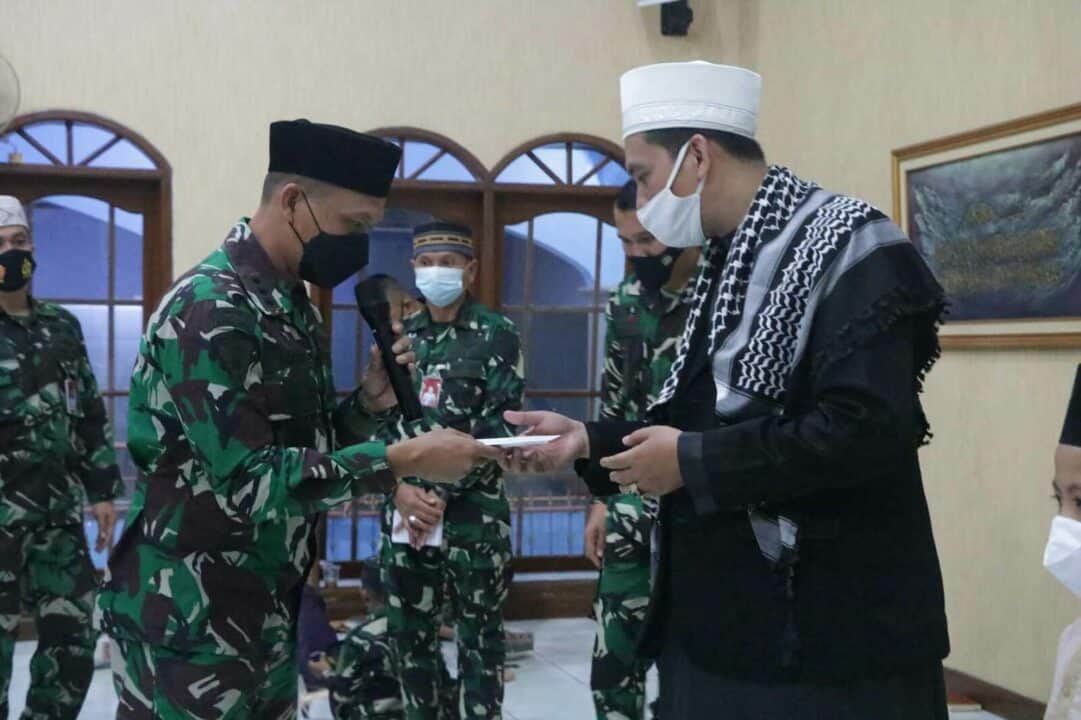 Anggota Pusdiklat Paskhas Turut Memperingati Nuzulul Qur'an 1442 H / 2021 M