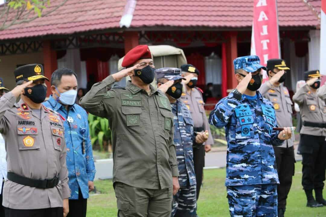 Danlanud Dhomber Hadiri Gelar Pasukan Operasi Ketupat Mahakam 2021