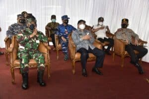 Dampingi Gubernur Kaltim Danlanud Dhomber Dan Forkopimda Melaksanakan Kunjungan Kerja Di Kukar