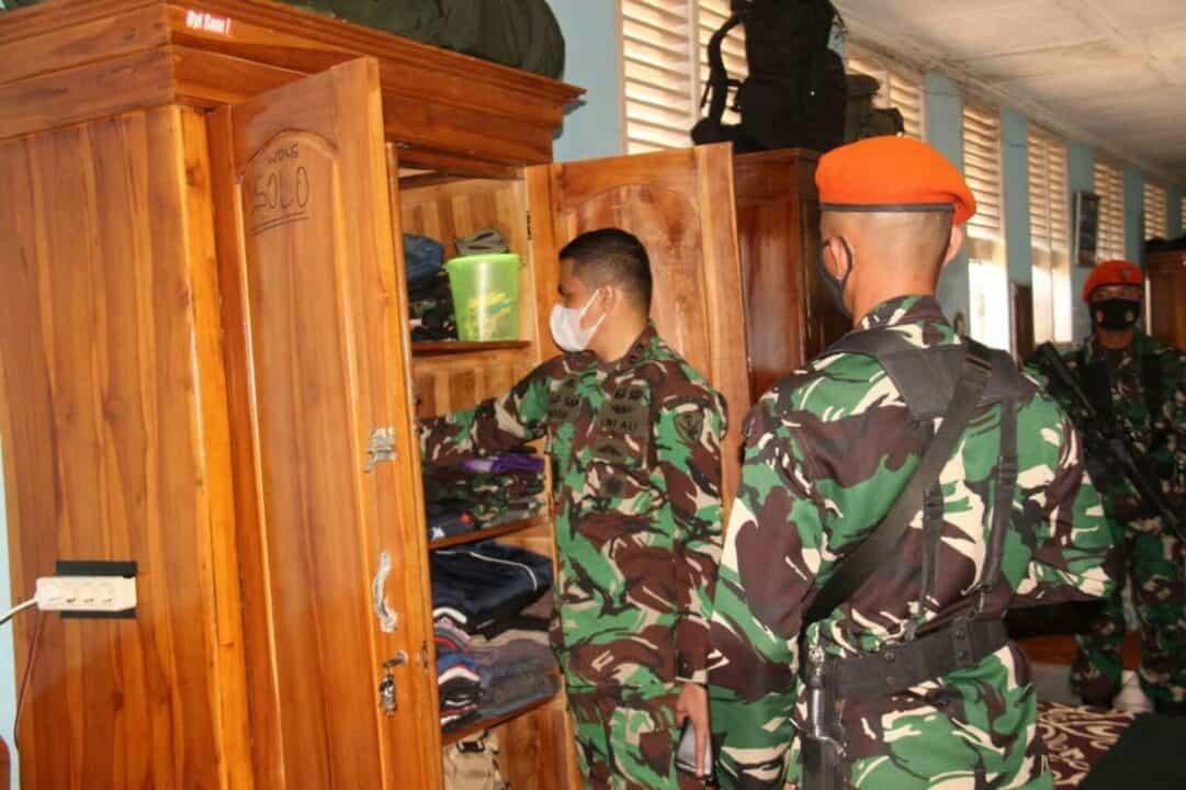 Batalyon 464 Gelar Sweeping