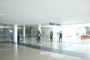 Danlanud Pattimura Tinjau Kesiapan Posko Terpadu Idul Fitri 1442 H di Bandara Internasional Pattimura.