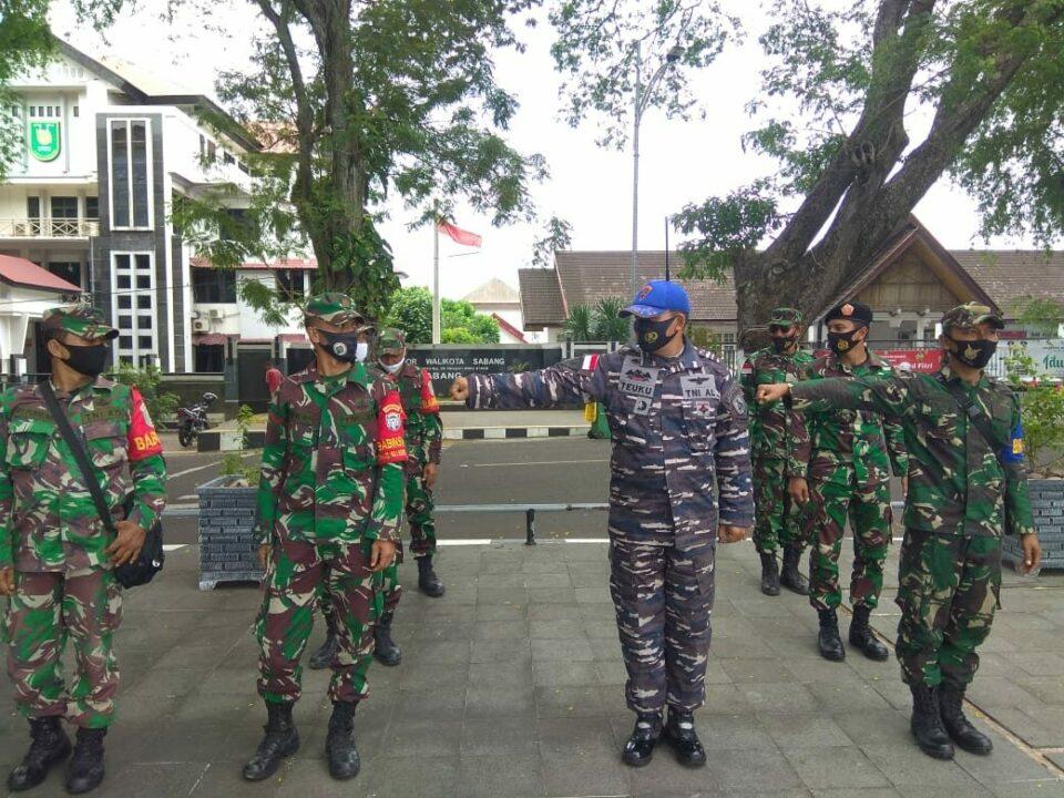 Cegah Lonjakan Kasus Covid-19 TNI - POLRI, Instansi Terkait Kota Sabang, Gelar Patroli Gabungan.