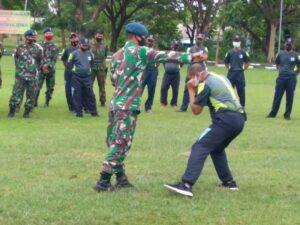 Tingkatkan Kemampuan, Prajurit Lanud Mus Bekali Beladiri Militer praktis.