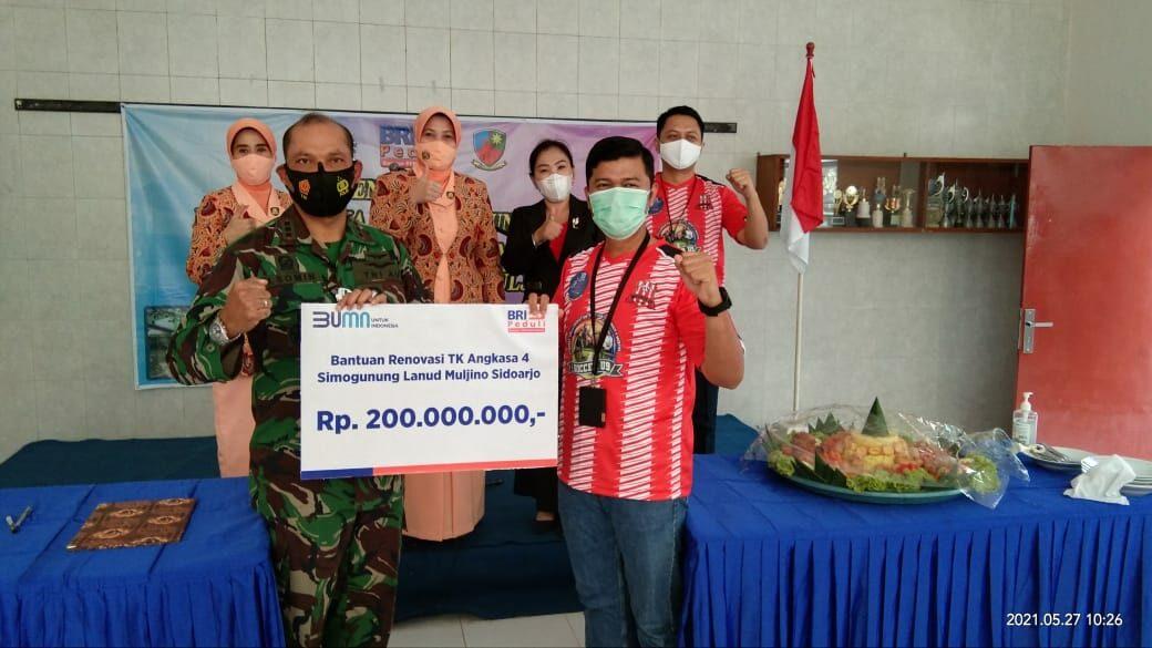 Lanud Muljono Menerima Bantuan Dana Bina Lingkungan (CSR) dari BRI Cabang Sidoarjo