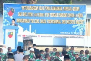 Shalat Idul Fitri 1442 H di Lanud Sulaiman