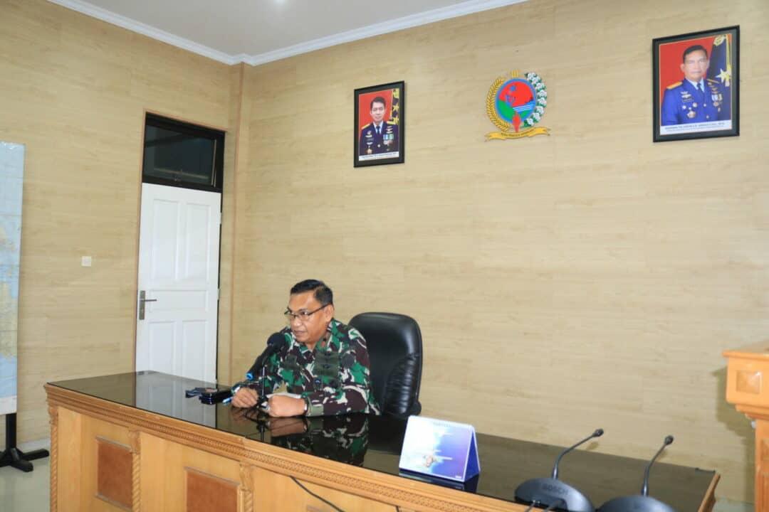 Panglima Kosekhanudnas III Pimpin Briefing Staf dan Satrad Jajaran
