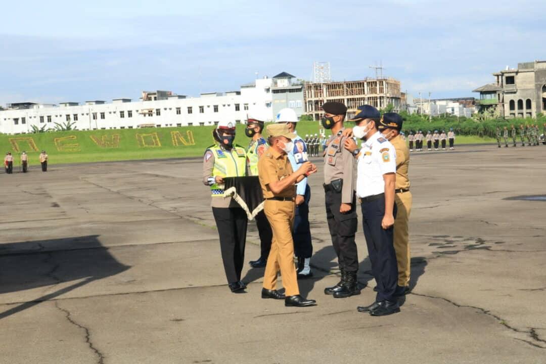 Pangkosekhanudnas III Mengikuti Apel Gelar Pasukan Operasi Ketupat Toba 2021