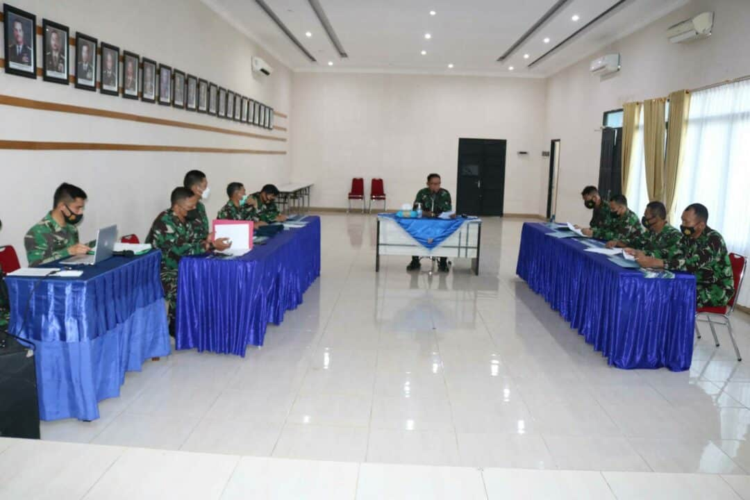 Rakor Usul kenaikan Pangkat Periode Oktober TA. 2021 Di Lanud Sjamsudin Noor