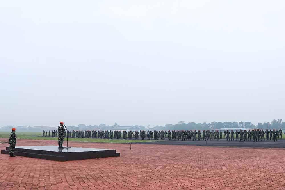 Dankorpaskhas Pimpin Apel Luar Biasa Di lapangan Jingga Mako Korpaskhas