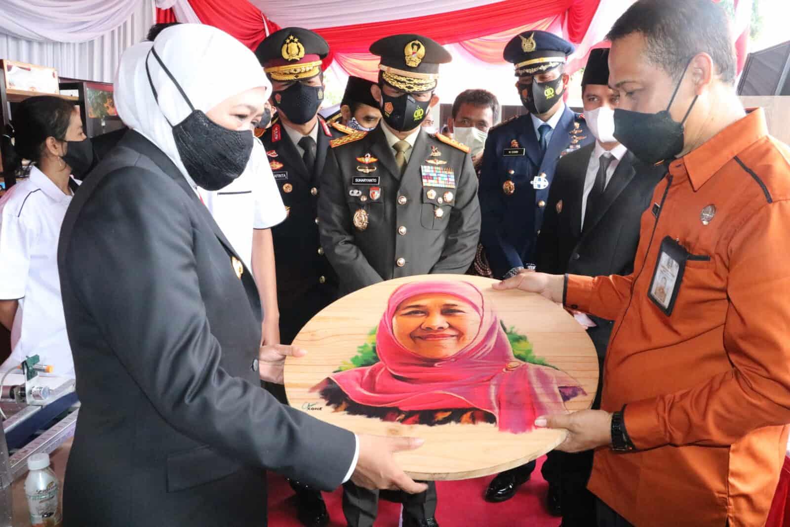 Komandan Lanud Muljono Hadiri Upacara Hari Pendidikan Nasional Jawa Timur