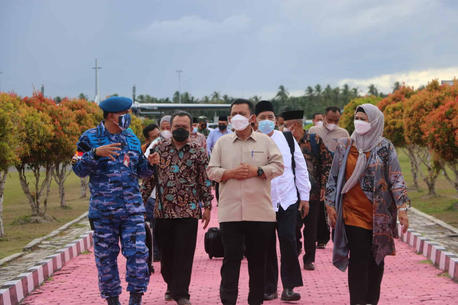 Gubernur Kepri Kunjungi Natuna di Sambut Danlanud Raden Sadjad