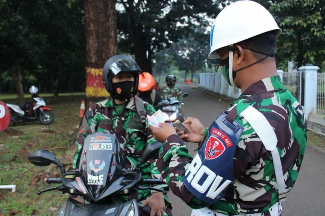 Batalyon 461 Paskhas Adakan Sweeping Kendaraan Dan Pengecekan Surat-Surat Kendaraan