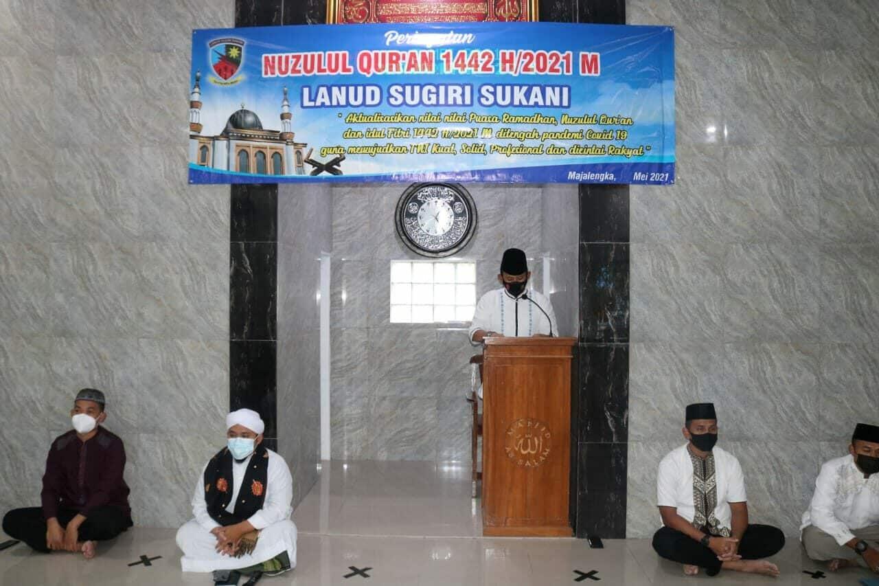 Lanud Sugiri Sukani Gelar Acara Nuzulul Qur'an 1442 H/2021 M