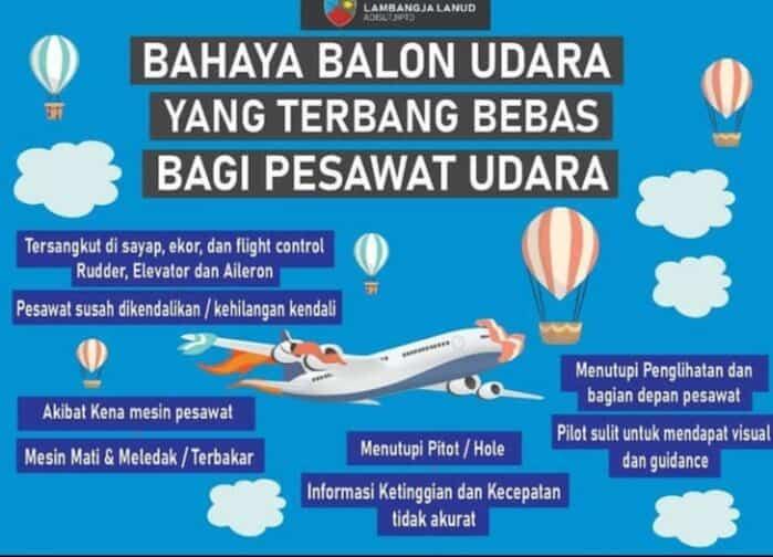 Lanud Adisutjipto sosialisasikan bahaya balon udara bagi dunia penerbangan