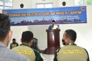 Peringatan Nuzulul Qur'an 1442 H di Lanud RHF