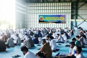 Lanud RSA Gelar Sholat Idul Fitri 1442 H di Hanggar Integrasi