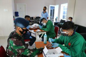 Pasca Libur Lebaran Idul Fitri 1442 H, Seluruh Personel Lanud Dhomber Melaksanakan Screning Covid – 19