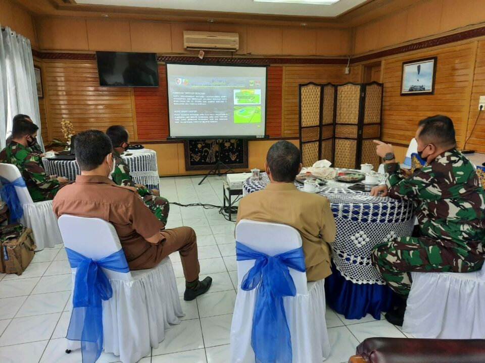 Rapat Koordinasi Pengembangan Kawah Tangguh Bencana Dan Aero Sport Center Di Lanud Sutan Sjahrir