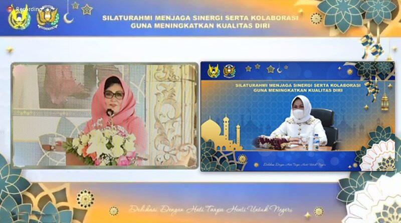 PIA AG Cabang 12/D.I Lanud Roesmin Nurjadin Ikuti Halal Bihalal Secara Virtual