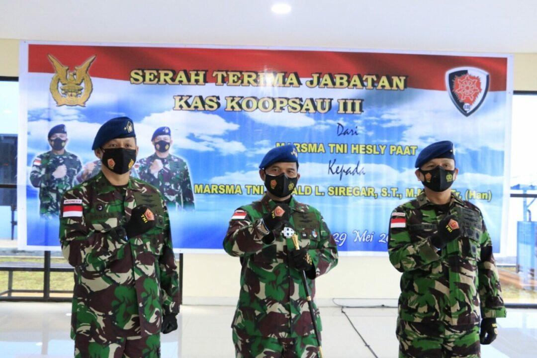 Jabatan Kepala Staf Koopsau III Diserahterimakan