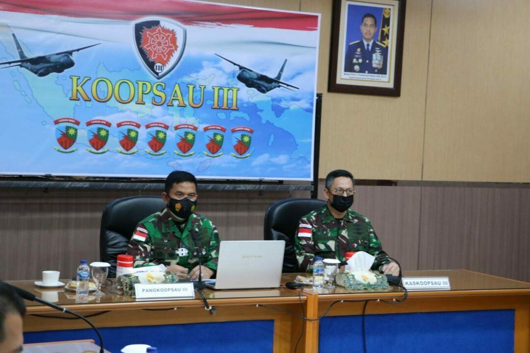 Exit Briefing Pangkoopsau III Dalam Rangka Serah Terima Jabatan