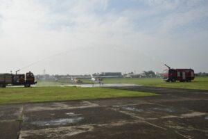 Danlanud Halim Dampingi Kasau Sambut Armada Baru IFC