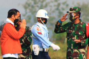 Danlanud J.B. Soedirman Sambut Kedatangan Presiden RI Ir.H. Joko Widodo