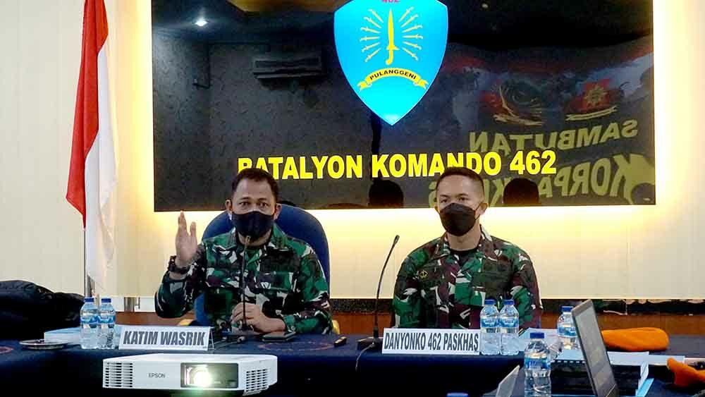 Kunjungan Wasrik Inspektorat Korpaskhas Ke Yonko 462 Paskhas