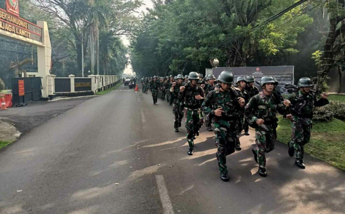 Pembinaan Lari Pagi Batalyon Komando 461 Paskhas