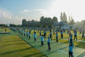 Peringati HUT Koopsau Ke-70 Warga Koopsau adakan Olahraga dan Mancing Bersama