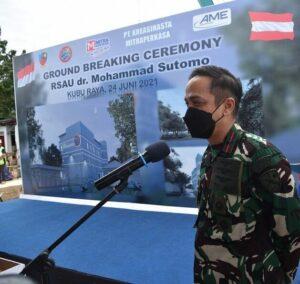 Peletakkan Batu Pertama Pembangunan dan Pengembangan Sarpas RSAU dr. M Sutomo Lanud Supadio